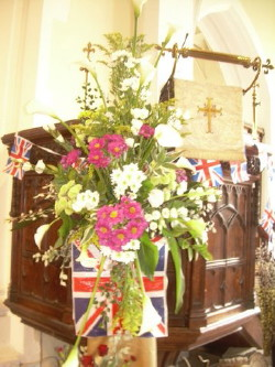 Flowers to celebrate the Diamond Jubilee of Queen Elizabeth II